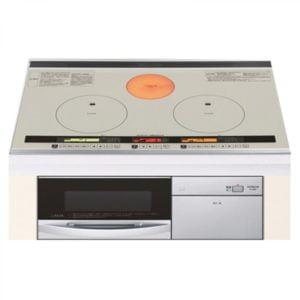 Bếp từ Hitachi HT-J8SW 2 từ 1 hồng ngoại và 1 lò nướng